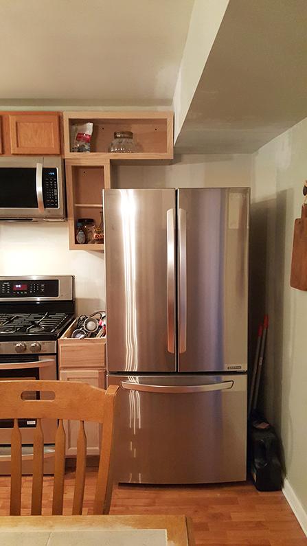 New fridge Kitchen Progress