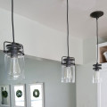 Pendant lighting the Honeycomb Home