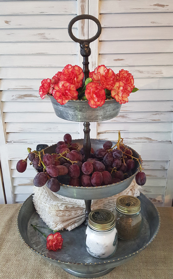 Styled Rustic 3 tier tray