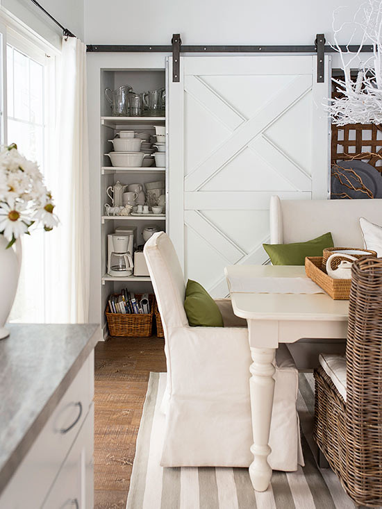 bhg dining room with barn doors
