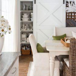 bhg dining room with barn doors