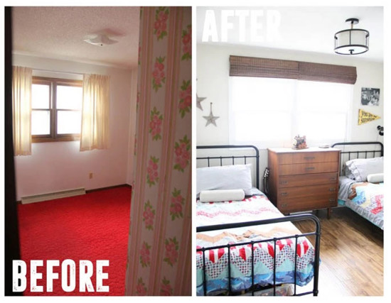 bright green decor boys room before and after