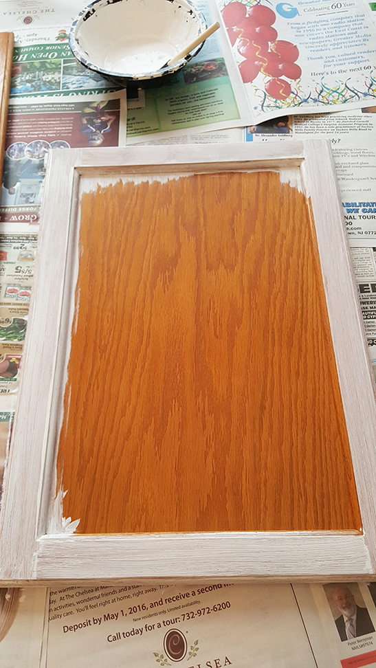 painting cabinets-no more builder grade brown