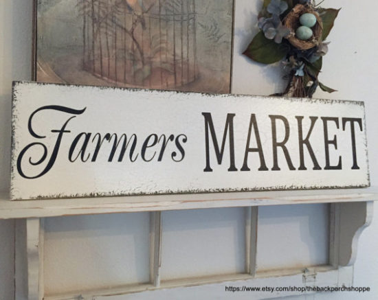 Farmers Market Sign the Back Porch Shoppe Etsy