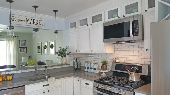 Kitchen Makeover After Corner angle