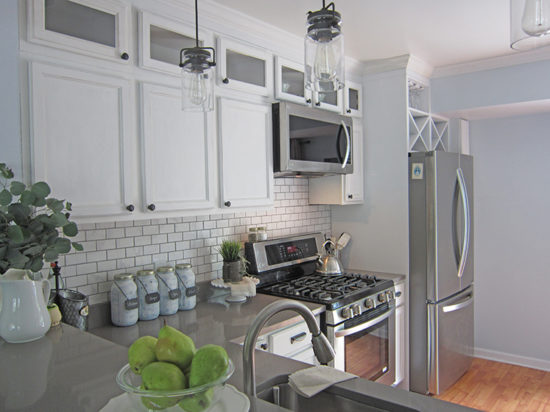 Kitchen Makeover After Custom Wine Racks, kitchen cabinet height,
