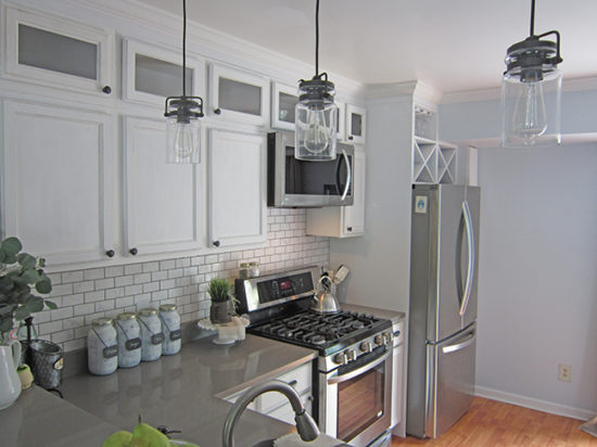 Kitchen Makeover After Wine Racks