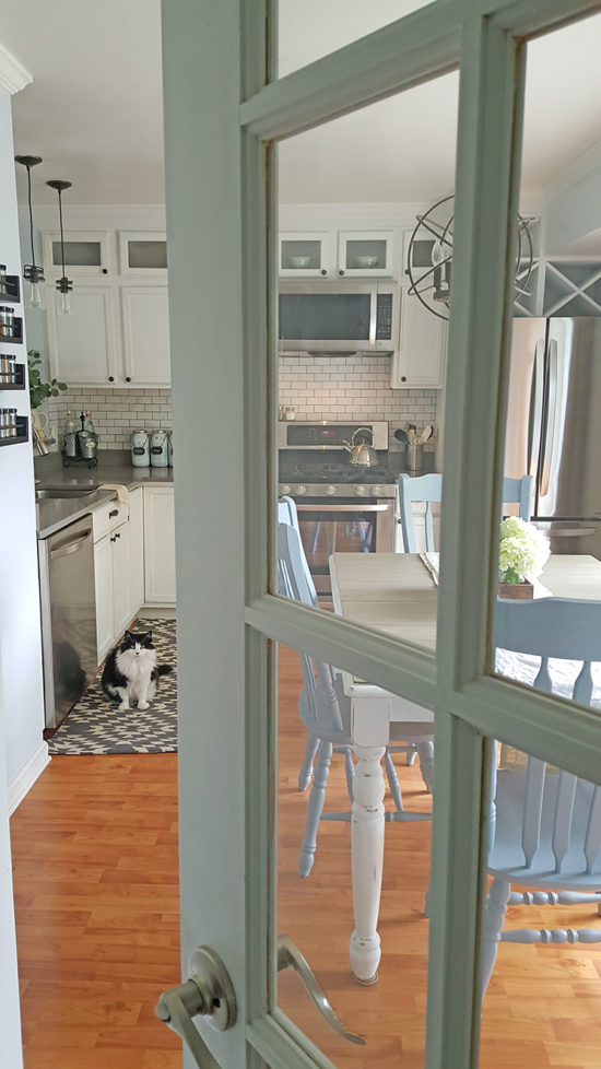 Kitchen Makeover After french door the Honeycomb Home