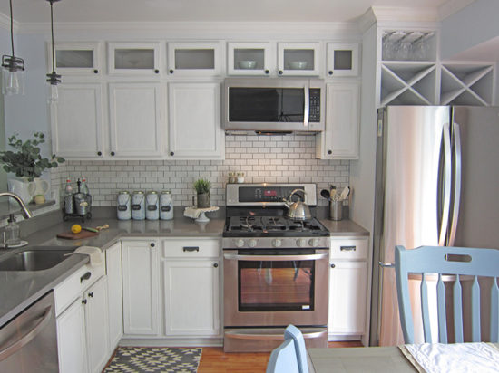 Kitchen Makeover Soffit Area the Honeycomb Home, kitchen cabinet doors, white kitchen cabinets