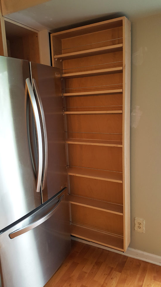 Slide out pantry for small