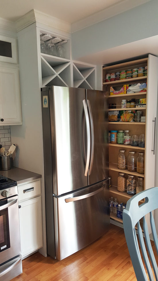 Slide out pantry for small spaces
