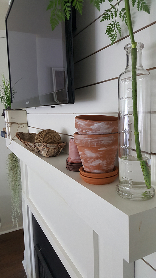 Terra Cotta Pots mantle decor