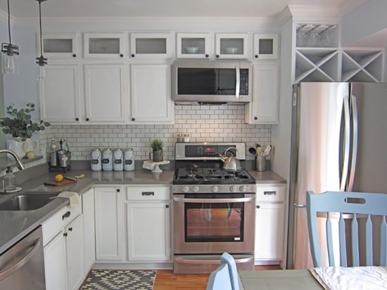 The Honeycomb Home Kitchen Makeover, kitchen cabinet height