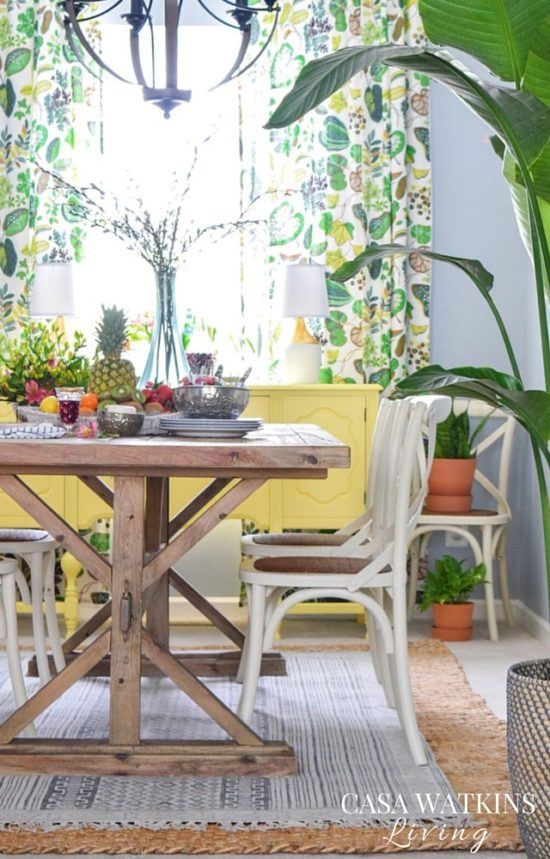 casa watkins colorful dining room
