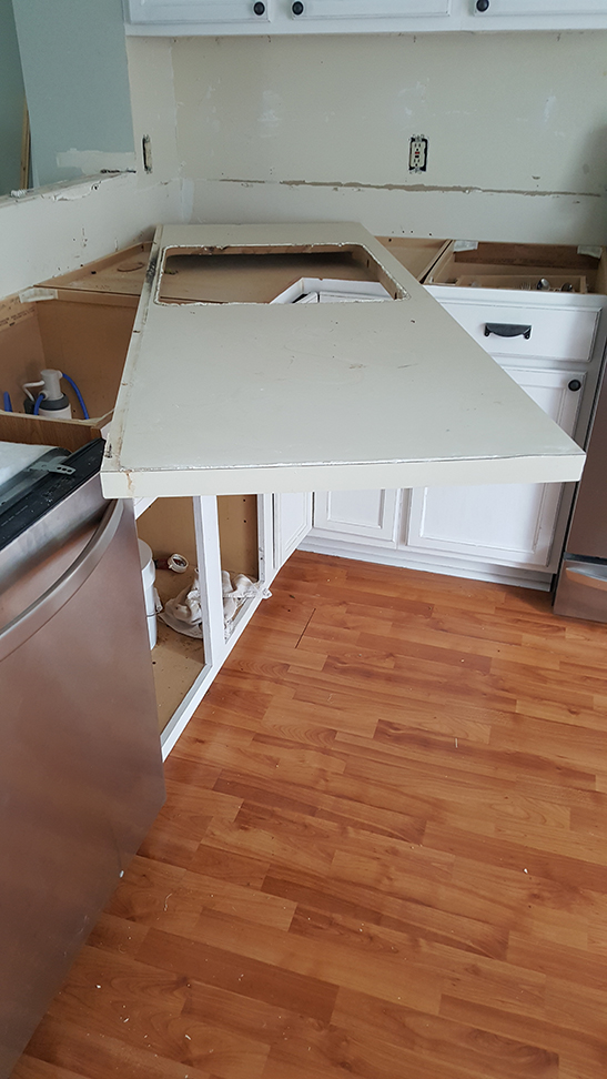removing kitchen counters