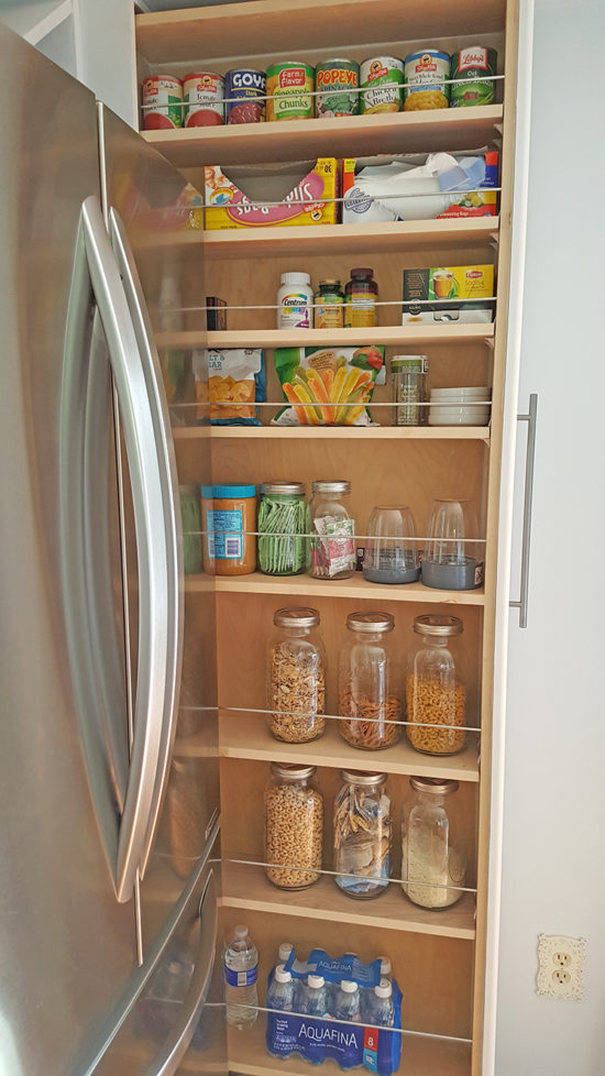 Organized Slide Out Pantry The Honeycomb Home