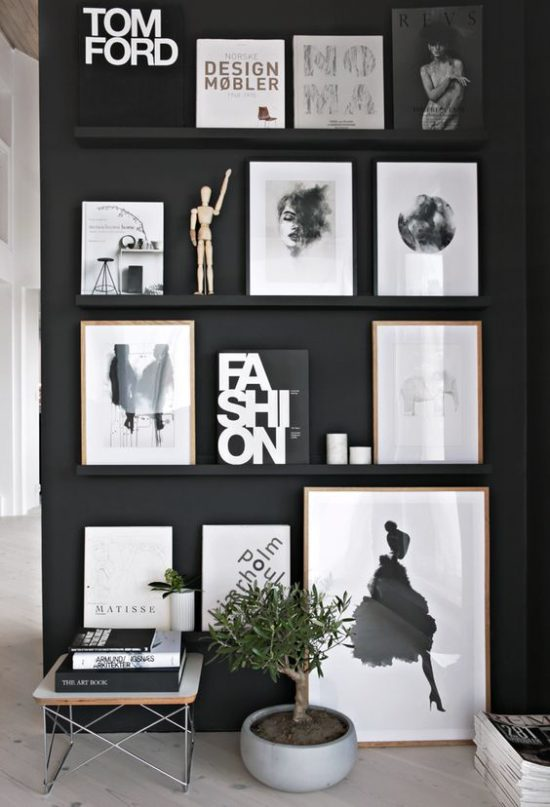 stylizmo - black and white gallery wall