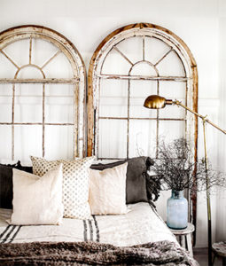 Rustic Window Frame Headboard Five for Friday