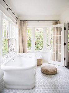 light and bright white bathroom