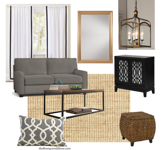 How to recreate this designer living room in your home the HoneycombHome.com