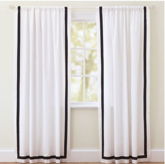 Grosgrain trimmed curtains