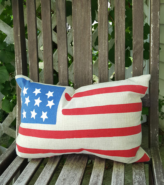 Outdoor American Flag Pillow