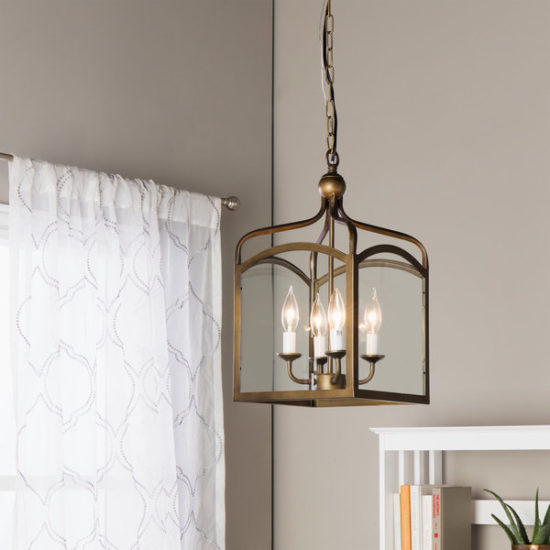 Overstock Chandelier-Ashley-Bronze-4-light-Foyer-Hanging-Lantern