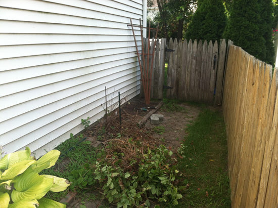 Side Yard Before