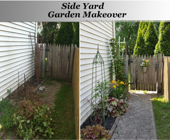 Side Yard Garden Before and After