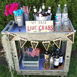 Summer Bar Cart