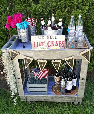 Summer Bar Cart
