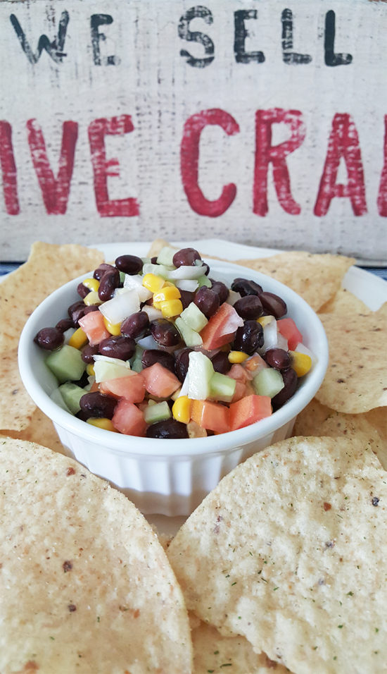 Summer Black Bean Salad Recipe The Honeycomb Home