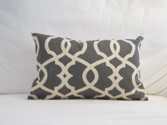 patterned gray pillows