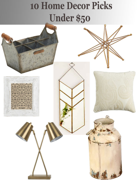 10 Home Decor Picks Under $50