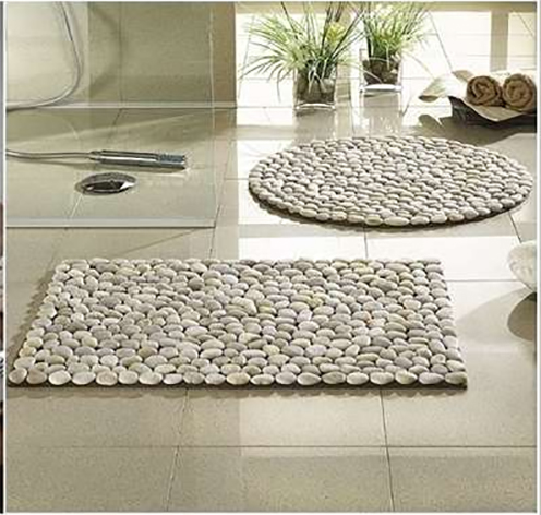 DIY River Stone Bath Mat