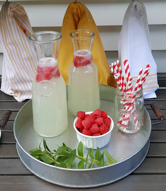 Lemonade Raspberries Club Soda Recipe