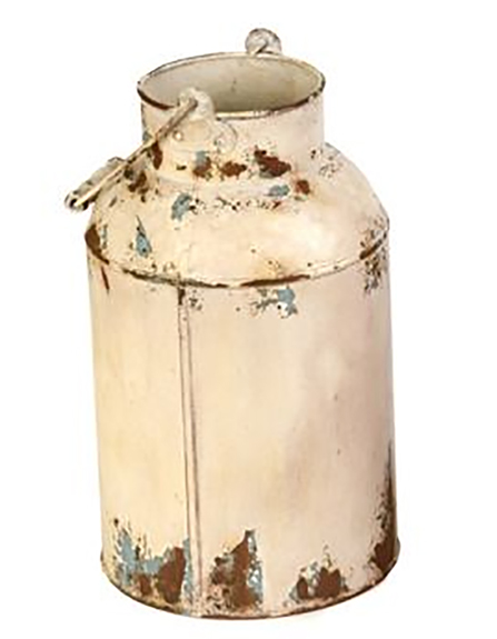 Rustic Milk Can Vase