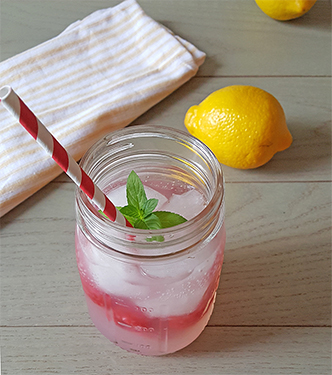 Simple Raspberry Lemonade