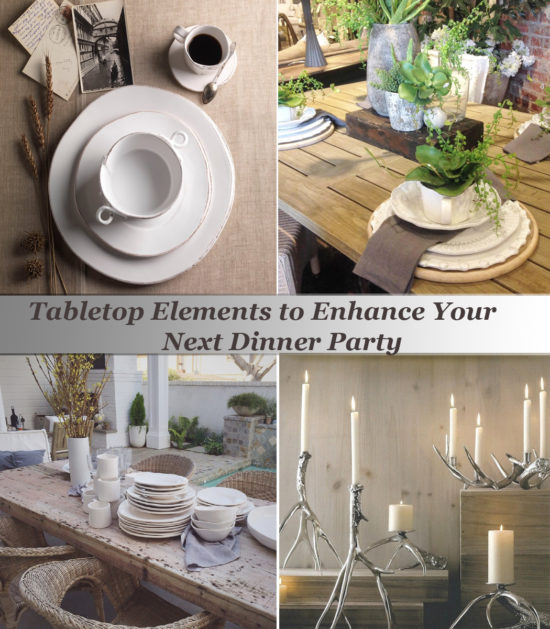 Tabletop Elements to Enhance Your Next Dinner Party