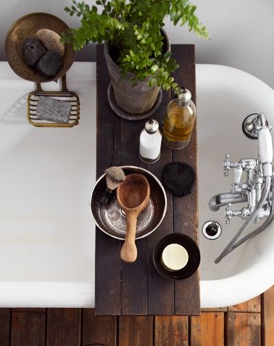 add a tub tray for a spa like feel