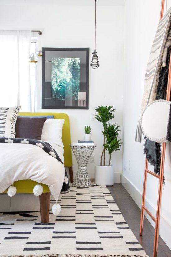 boho white bedroom