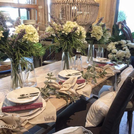 Beautiful farmhouse table settings
