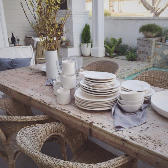 Farmhouse table settings