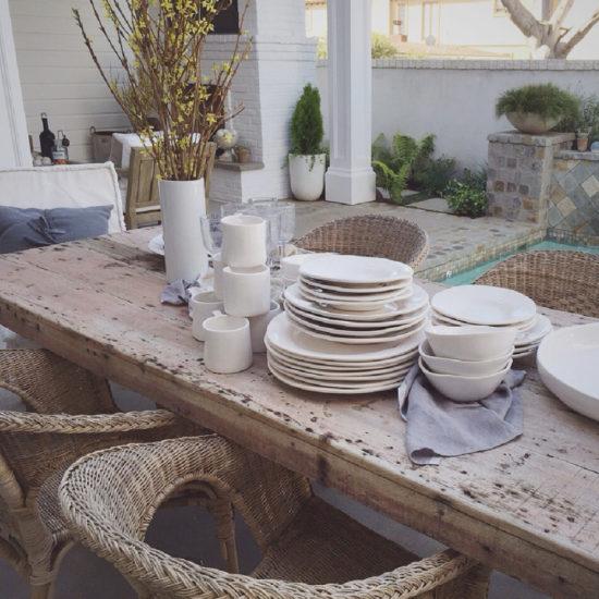 Farmhouse table settings