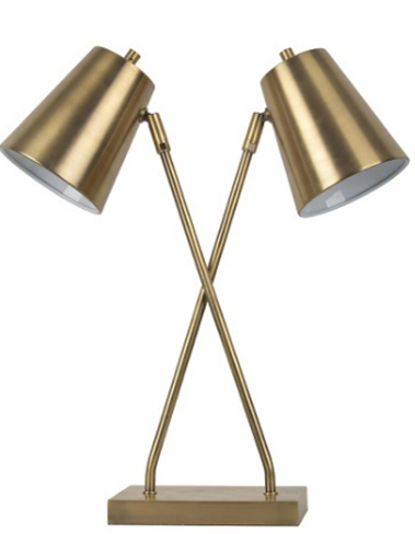 double shade gold lamp