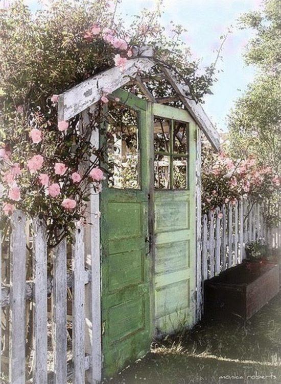garden gate from old doors
