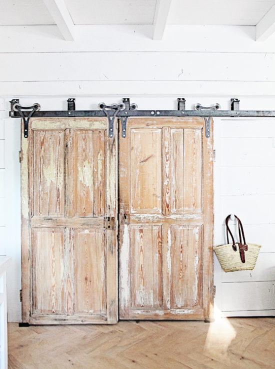 herringbone floors and barn doors
