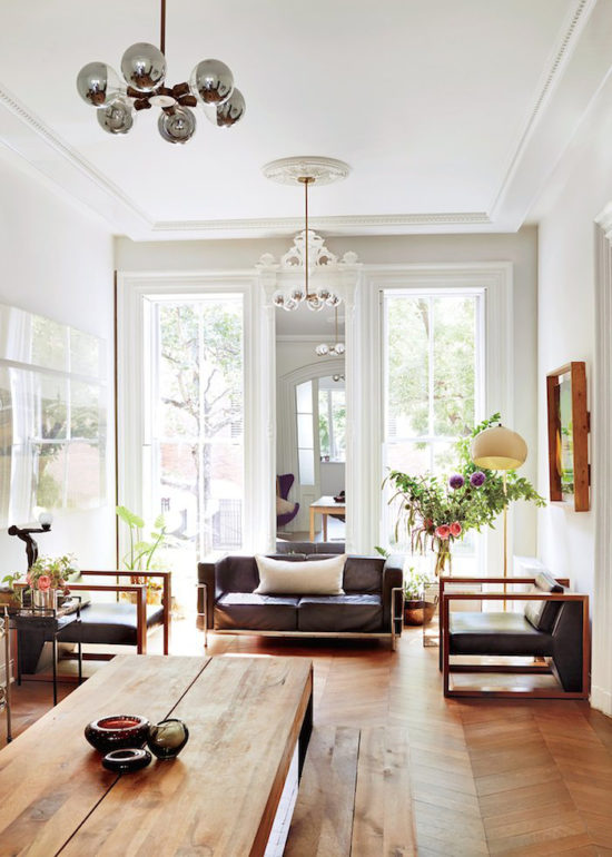 bring apartment with herringbone floors