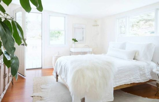 all white cottage