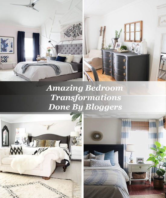 Amazing Bedroom Transformations Done By Bloggers Pin